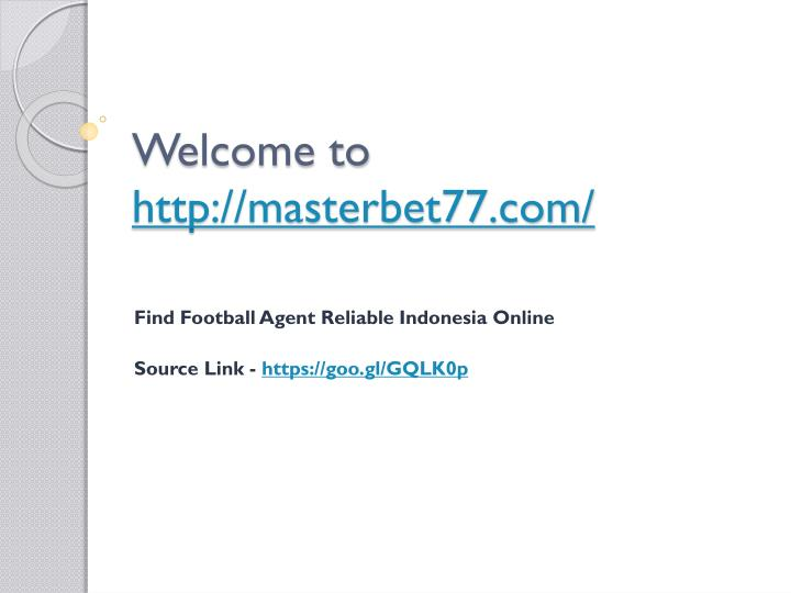 Welcome to http masterbet77 com