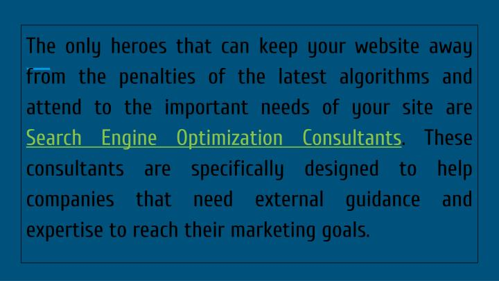 The only heroes that can keep your website away from the penalties of the latest algorithms and atte...