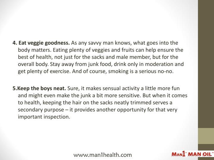 4. Eat veggie goodness.