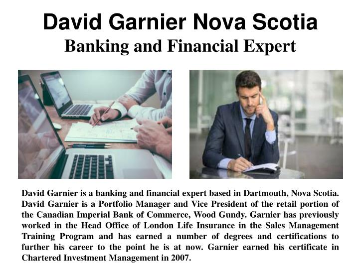 David Garnier Nova Scotia