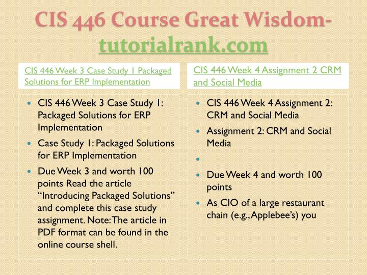 Cis 446 course great wisdom tutorialrank com1