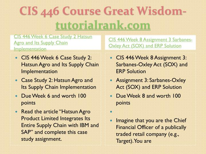 Cis 446 course great wisdom tutorialrank com2