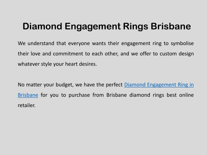 Diamond Engagement Rings Brisbane