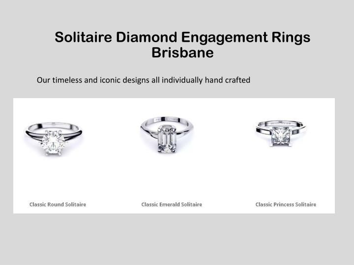 Solitaire Diamond Engagement Rings Brisbane