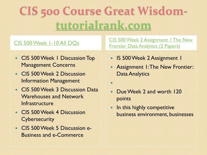 Cis 500 course great wisdom tutorialrank com2