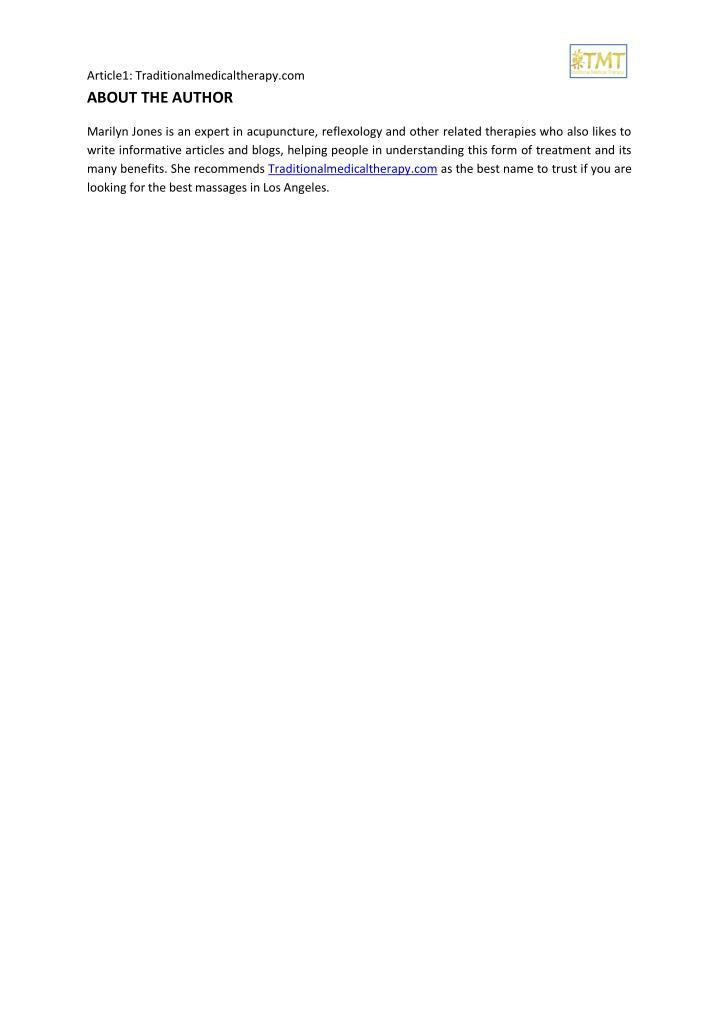 Article1: Traditionalmedicaltherapy.com