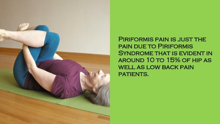 Piriformis pain is just the pain due to Piriformis Syndrome that is evident in around 10 to 15% of hip as well as low back pain patients.