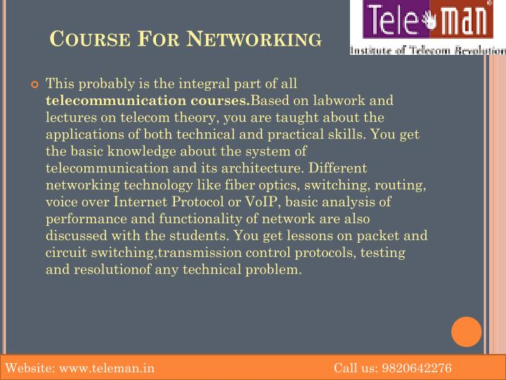 Course For Networking