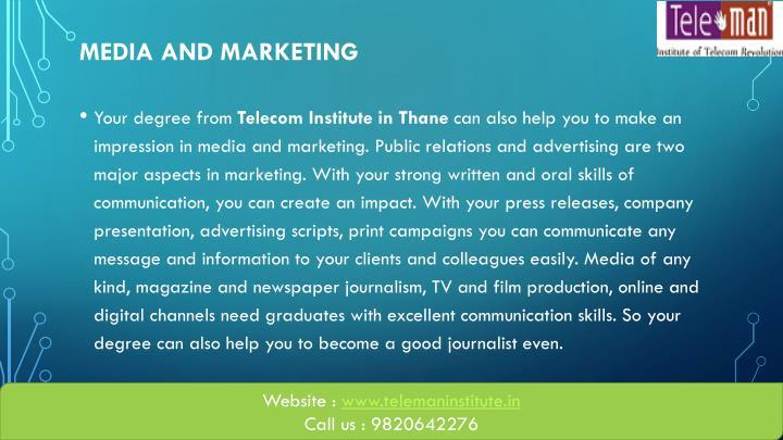 Media and Marketing