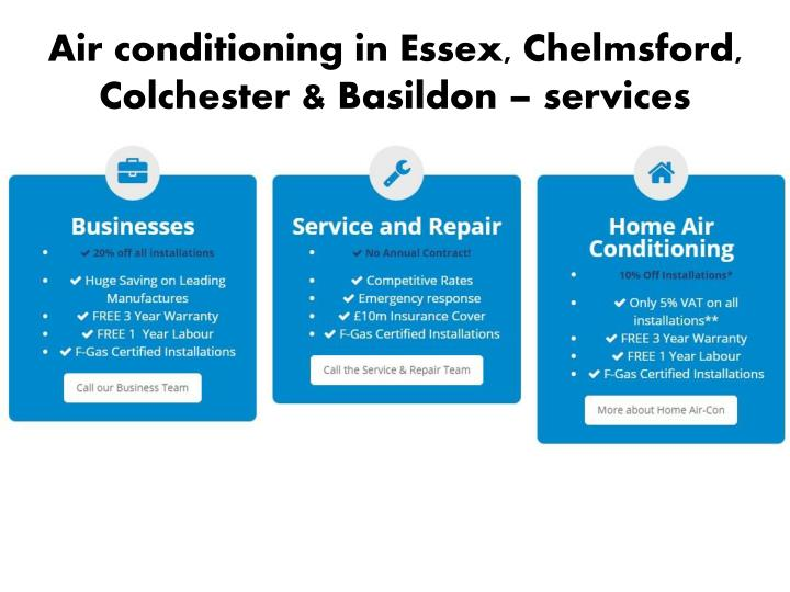 Air conditioning in Essex, Chelmsford, Colchester &