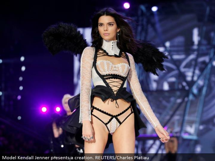 Model Kendall Jenner displays a creation. REUTERS/Charles Platiau