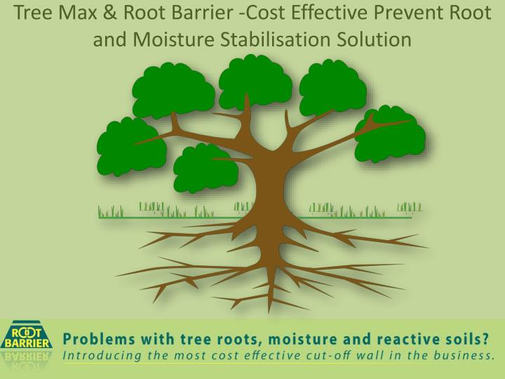 Tree max root barrier cost effective prevent root and moisture stabilisation solution