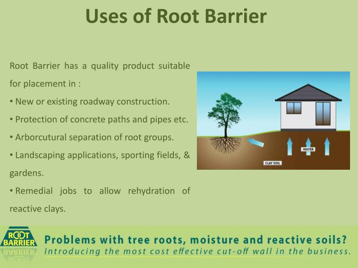 Root Barrier has a quality product suitable for placement in :