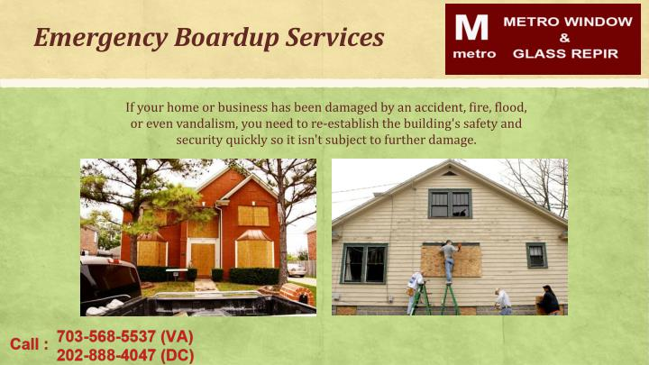 Emergency Boardup Services