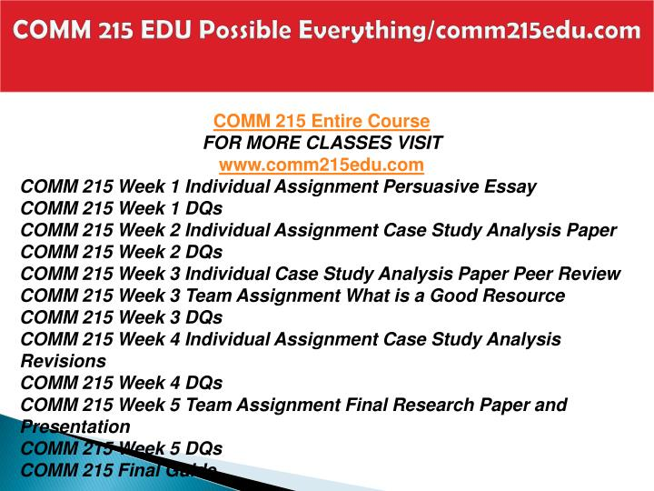 Comm 215 edu possible everything comm215edu com1