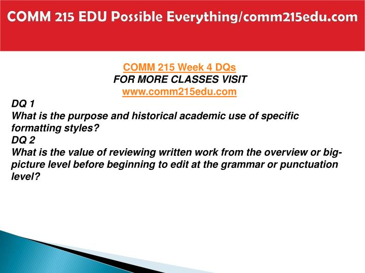 COMM 215 EDU Possible Everything/comm215edu.com