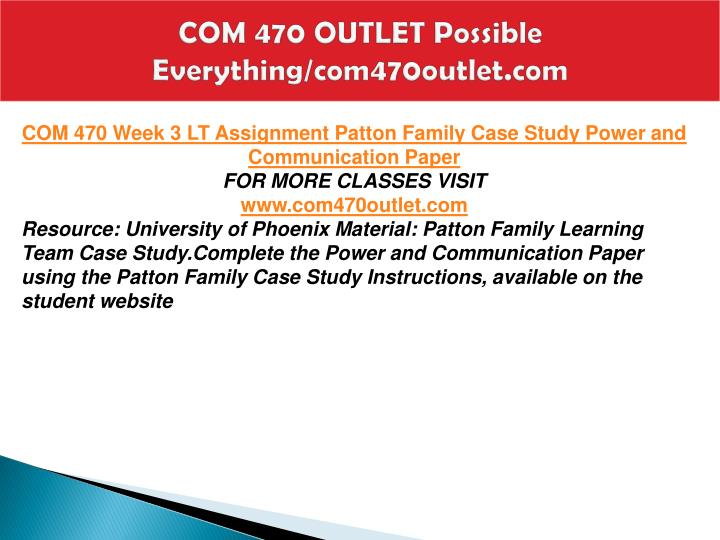 COM 470 OUTLET Possible Everything/com470outlet.com