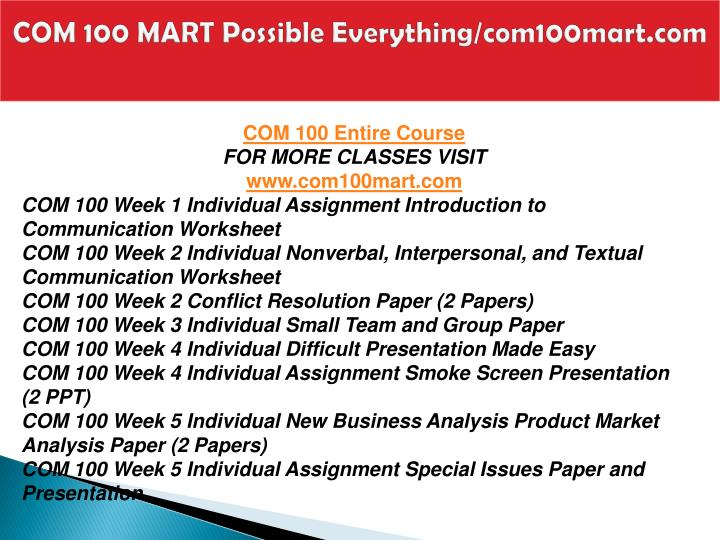 Com 100 mart possible everything com100mart com1