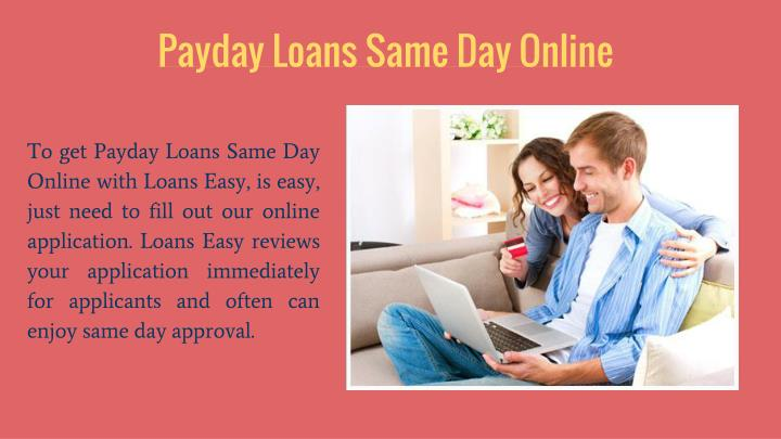 Payday Loans Same Day Online
