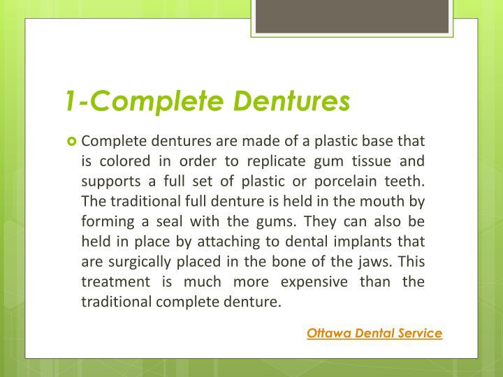 1-Complete Dentures