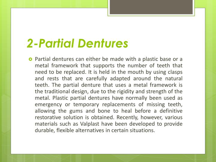 2-Partial Dentures