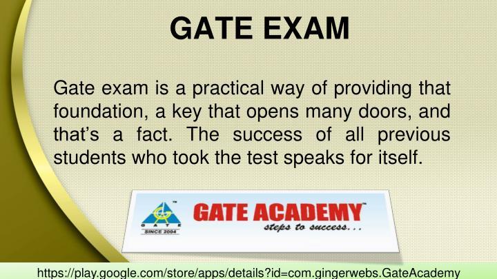 GATE EXAM