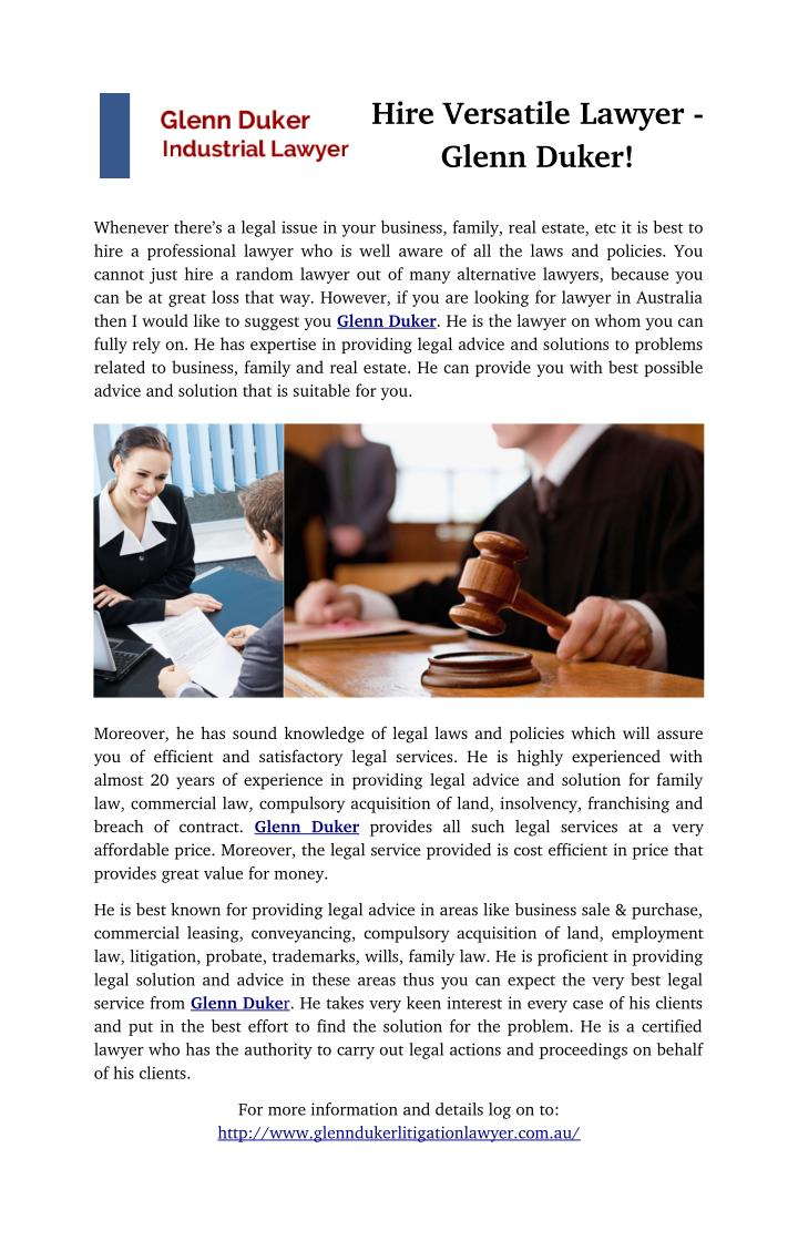 Hire Versatile Lawyer -