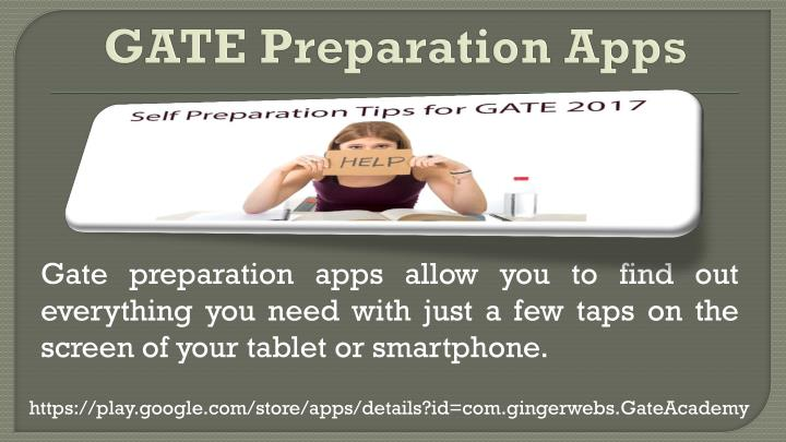 Gate preparation apps allow you to find out