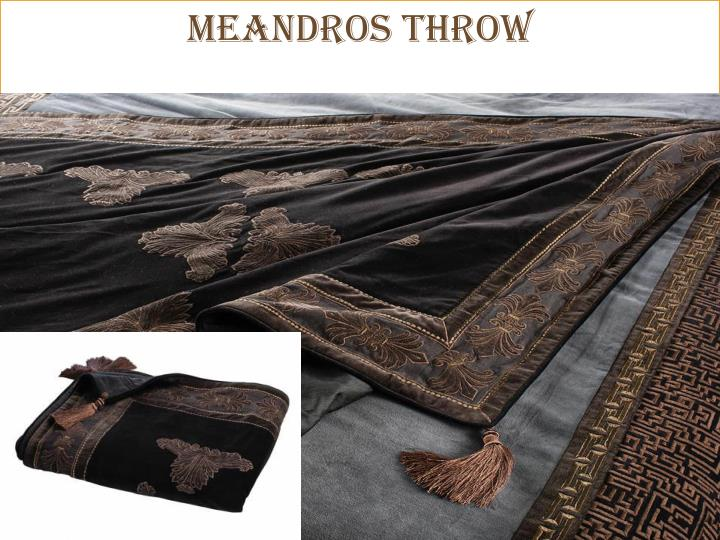 MEANDROS Throw