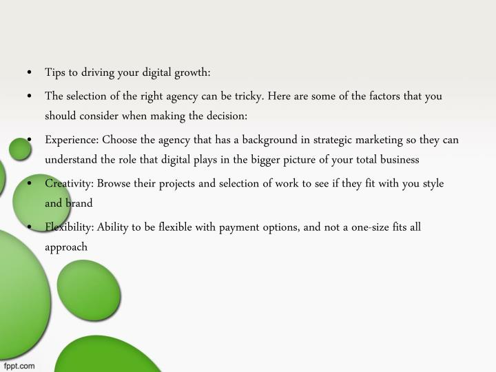 Tips to driving your digital growth:
