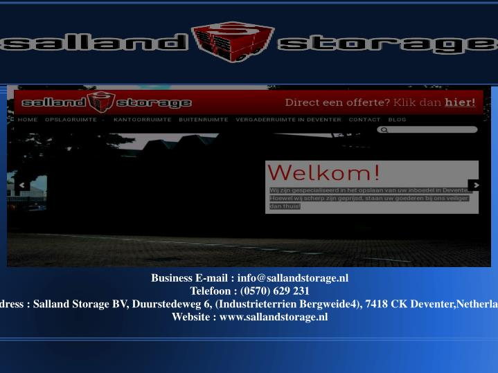 Business E-mail : info@sallandstorage.nl