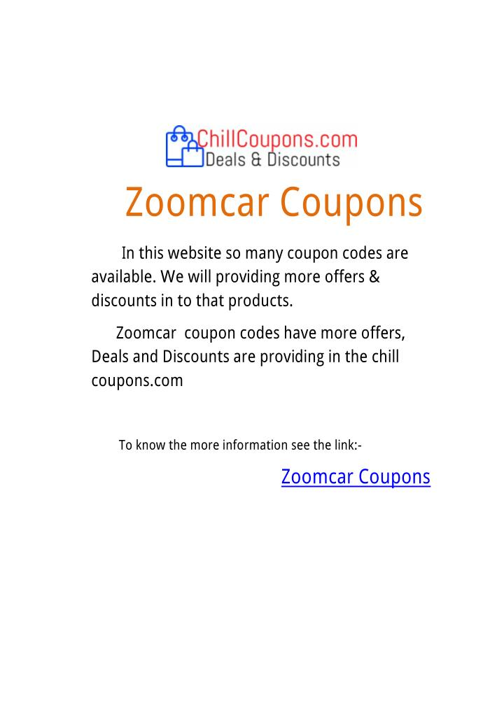 ZoomcarCoupons