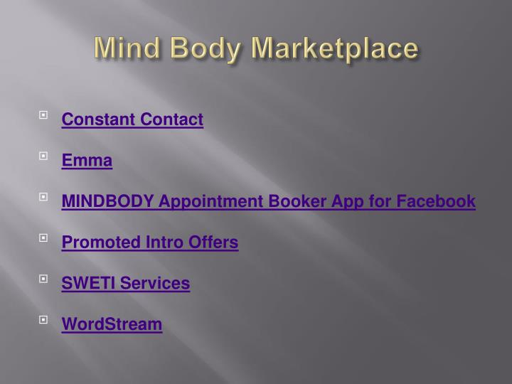 Mind Body Marketplace