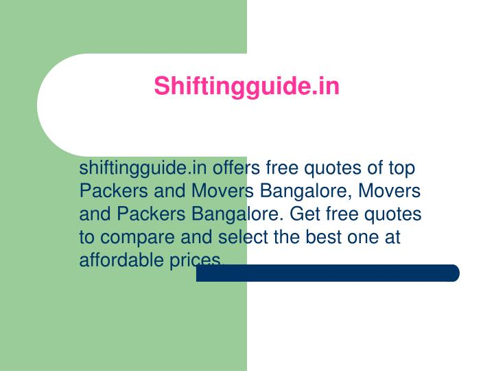 Shiftingguide in