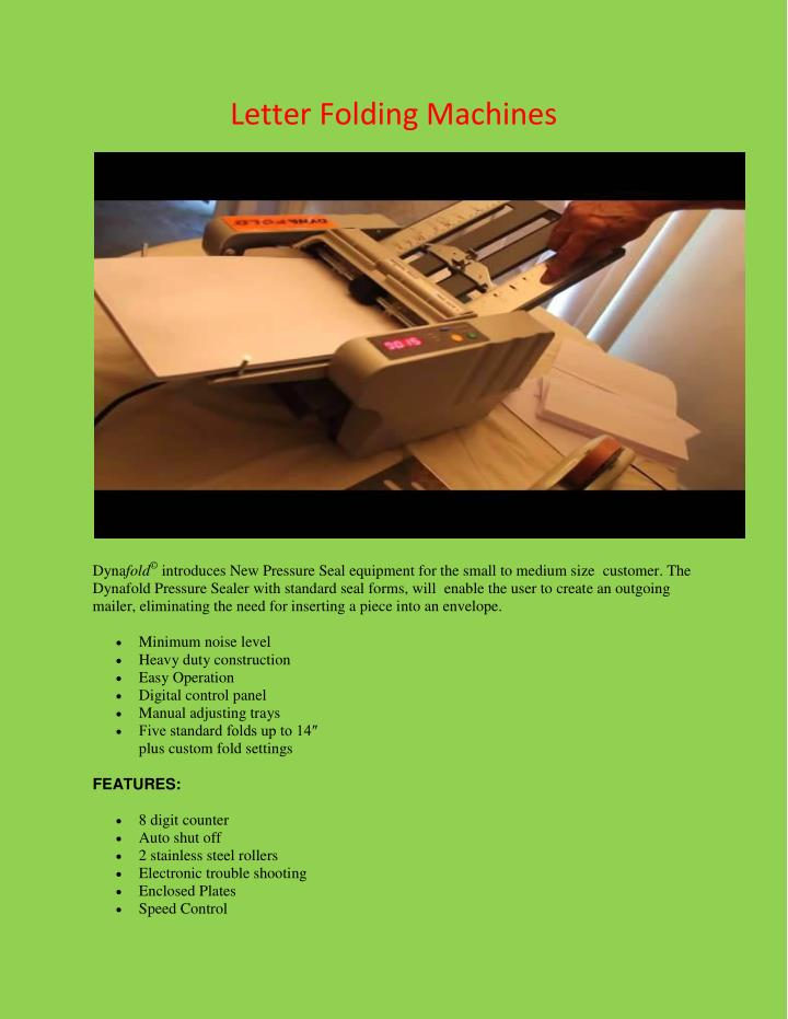 Letter Folding Machines