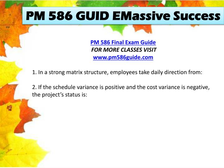 PM 586 GUID