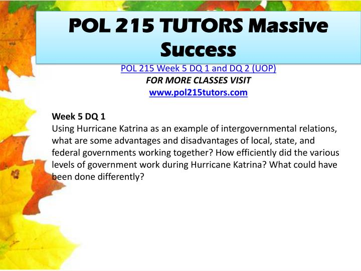 POL 215 TUTORS Massive Success