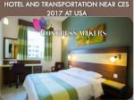 hotel and transportation near ces 2017 at usa