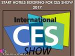 start hotels booking for ces show 2017