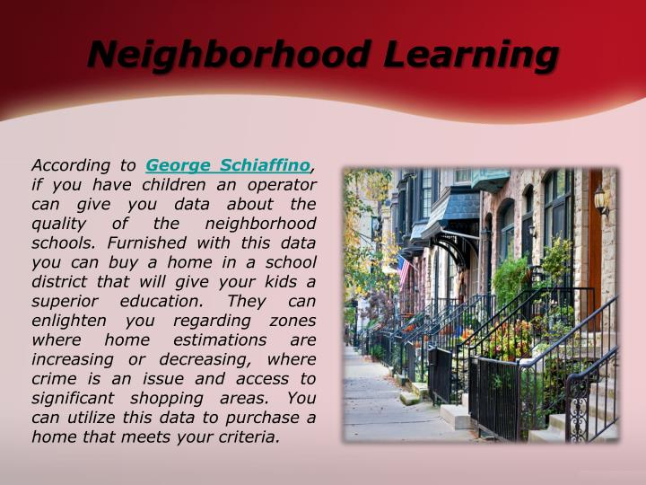 Neighborhood Learning
