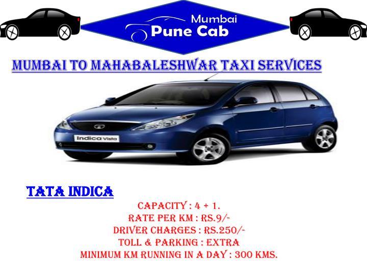 Mumbai to Mahabaleshwar taxi services