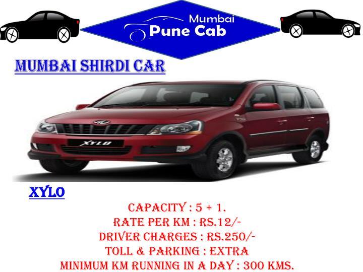 Mumbai Shirdi car