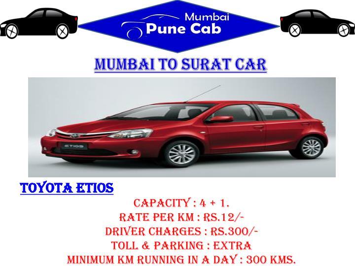 Mumbai to Surat car