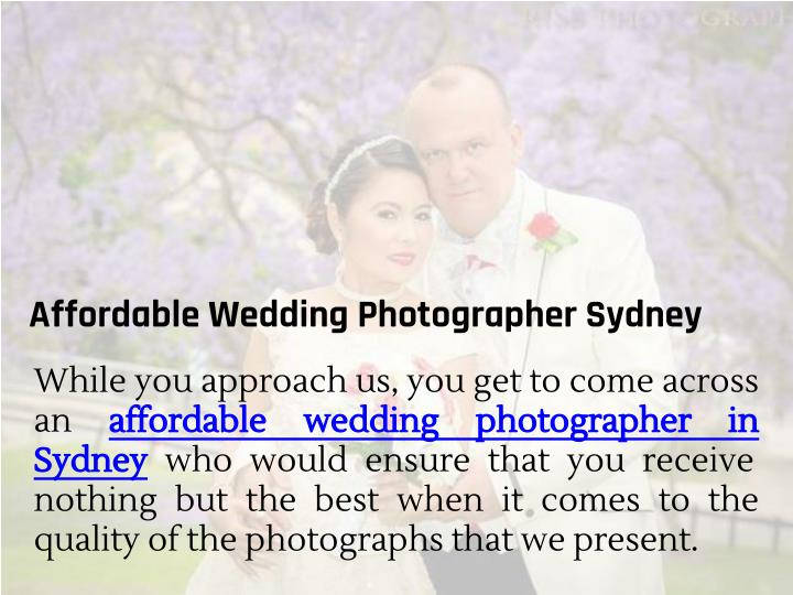 Affordable Wedding Photographer Sydney