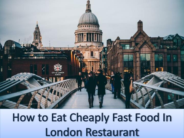 How to eat cheaply at a fast food restaurant 7452862