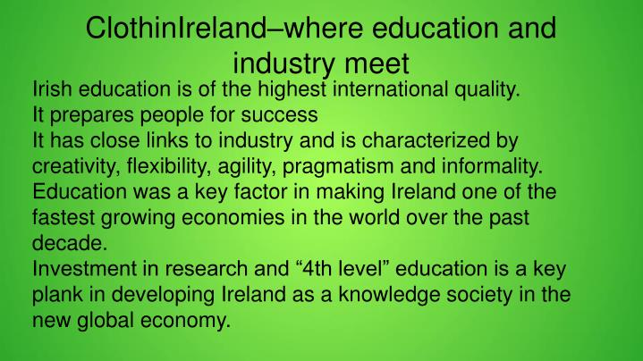 ClothinIreland–where education and industry meet