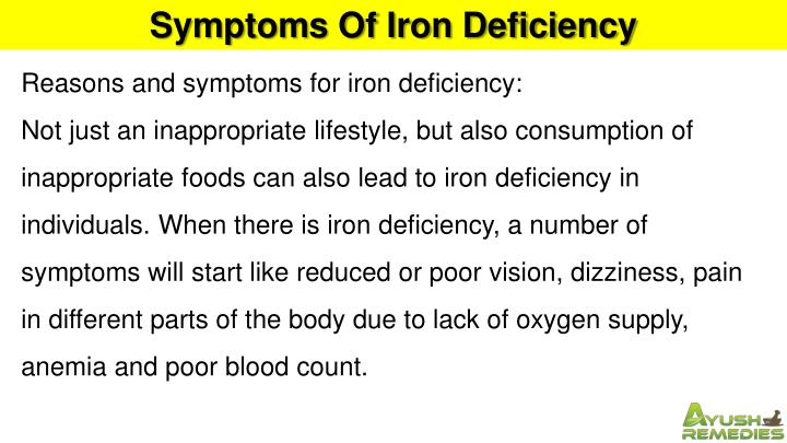 Symptoms Of Iron Deficiency