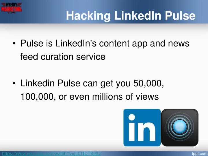 Hacking LinkedIn Pulse