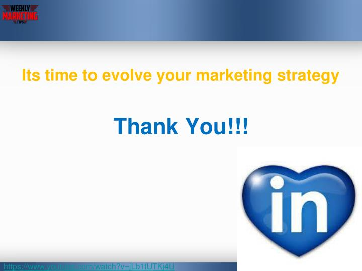Its time to evolve your marketing strategy