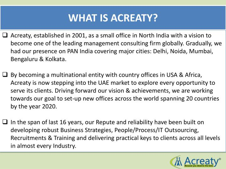 WHAT IS ACREATY?